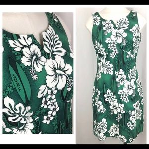 Amazing 50s 60s Barkcloth Hawaiian Dress